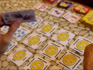 Holding a Do card, looking at the Feeling cards