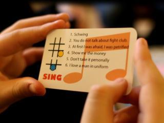 Sing card